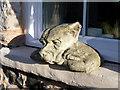 NU1241 : Statue, Holy Island, Northumberland by Christine Matthews