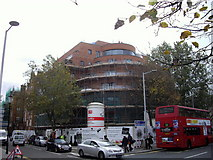 TQ2677 : The Chelsea Apartments under construction in Fulham Road by PAUL FARMER