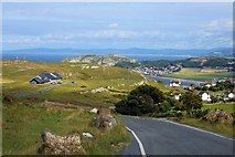 SH7683 : Bishop's Quarry Road on the Great Orme by Steve Daniels