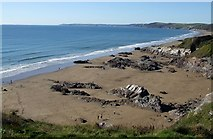 SX3952 : Whitsand Bay looking west from Sharrow Point by Rob Farrow