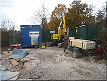 SU6252 : Construction equipment - Brunel Road by Given Up