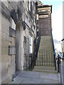 NU1813 : Town Hall steps, Alnwick by Michael Trolove