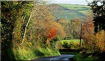 J3996 : The Waterfall Road, Gleno (3) by Albert Bridge