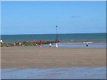 SH8678 : Fun on the beach at Colwyn Bay by Eirian Evans