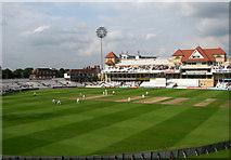 SK5838 : Trent Bridge Cricket Ground: view from the Hound Road Stand by John Sutton