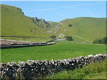 SK1482 : Fields below Winnat's Pass by Colin Park