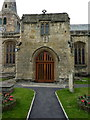 NU2406 : St Lawrence Church, Warkworth, Porch by Alexander P Kapp