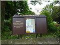 NU1908 : St James Church, Shilbottle, Sign by Alexander P Kapp