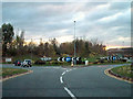 SJ3962 : Herons Way/Sandpiper Way Roundabout, Chester Business Park by David Dixon