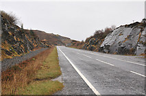 NM6793 : A830 west of Morar by Steven Brown