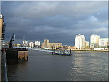 TQ3680 : On the west bank of Limehouse Reach, River Thames London by Richard Humphrey