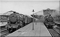 SD8912 : Rochdale Station, with trains by Ben Brooksbank