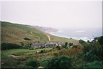 SW3526 : Cottages in Vellan Dreath Valley, Sennen, Cornwall by Trionon