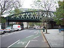 TQ3279 : Railway bridge over Borough Road, Southwark, London by Richard Humphrey