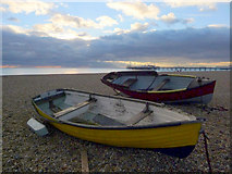 TQ3103 : Boats on Brighton Beach, East Sussex by Christine Matthews