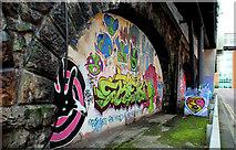 J3473 : Railway arches, Belfast (3) by Albert Bridge