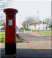 TF7209 : George VI pillar box at the Post Office at RAF Marham by Evelyn Simak