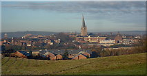 SK3871 : View across Chesterfield by Andrew Hill