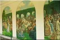 TQ2479 : Mural in Holland Park by Phillip Perry
