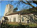 TF8730 : St Peter's church, Dunton, Norfolk by Richard Humphrey