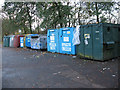 TQ4067 : Waste/recycling bank at Norman Park by Stephen Craven