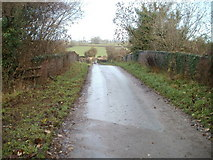 ST1273 : Country lane crosses former railway bridge, Wenvoe by Jaggery