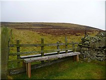 NS9533 : Stile/bench on the south Tinto path by Gordon Brown