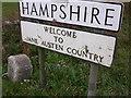 SU7724 : County signs by Shazz