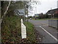 SP3675 : Willenhall, boundary post by Mike Faherty