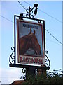 TM4081 : Racehorse Public House Sign by Adrian Cable