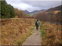 NM8363 : Path by the Strontian River by Peter Bond