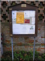 TM2952 : Ufford Village Notice Board by Adrian Cable