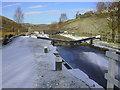 SD9420 : Warland Upper Lock No 35, Rochdale Canal, Warland, Littleborough-Todmorden by Robert Wade
