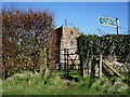 NY3767 : The Parish Church of St Michael & All Angels, Arthuret, Gate by Alexander P Kapp
