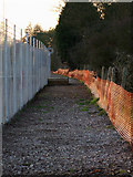 TQ8789 : Southend Airport boundary fence by terry joyce