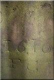 NS7177 : Detail of Francis Gordon's gravestone, Kilsyth Burns and Old Parish Church by Becky Williamson