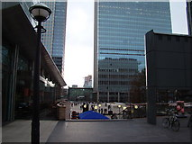 TQ3780 : View looking ESE from Canada Square by Robert Lamb