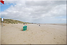 TQ9618 : Litter bins, Camber Sands by N Chadwick