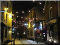 TQ8209 : George Street in snow at night by Oast House Archive