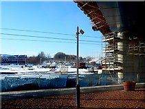 NS6161 : M74 Flyover Rutherglen Station by Nigel Mykura