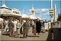 SD3036 : Blackpool Promenade, 1961 by Alfred Dixon