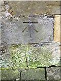 NO4116 : Bench Mark, Dairsie Old Church by Maigheach-gheal