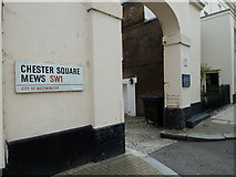 TQ2878 : Entrance to Chester Square Mews by Basher Eyre