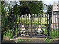 NY3561 : The Parish Church of St Mary the Virgin, Rockcliffe and Cargo, Gate by Alexander P Kapp