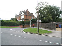 TM3877 : Junction of the A144 with Roman Way by Basher Eyre