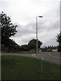 TM3877 : Approaching the junction of Roman Way and Gainsborough Drive by Basher Eyre