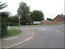 TM3877 : Junction of Gainsborough Drive and Roman Way by Basher Eyre