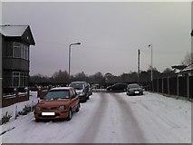 TQ4387 : Snowy Middlefield Approach by Robert Lamb