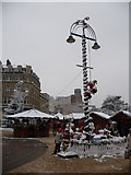 SZ0891 : Bournemouth: snow reaches the North Pole by Chris Downer