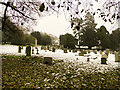 TM2384 : The sloping graveyard at Starston St Mary's church by Adrian S Pye